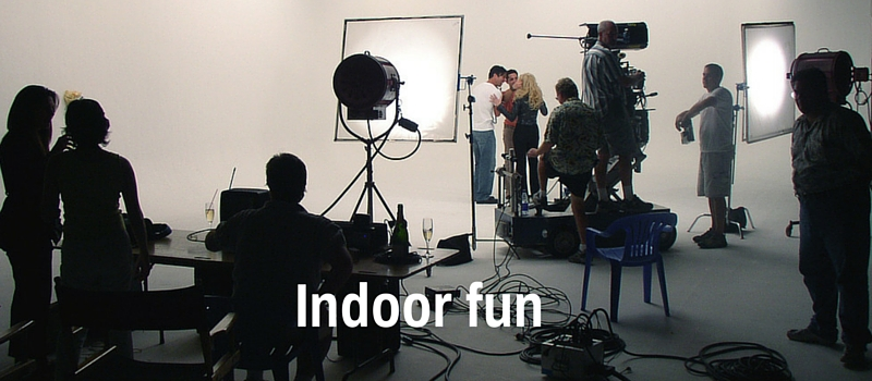 Indoor fun – making television