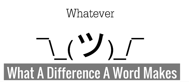 What a difference a word makes