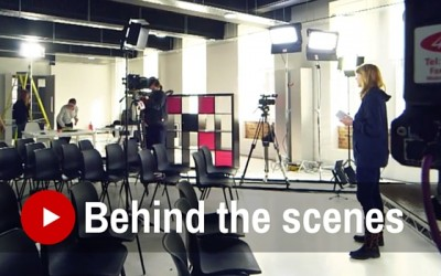 Behind the scenes studio shoot
