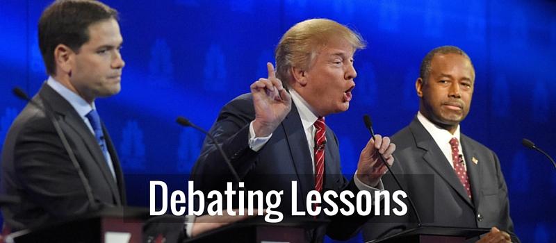 Debating lessons