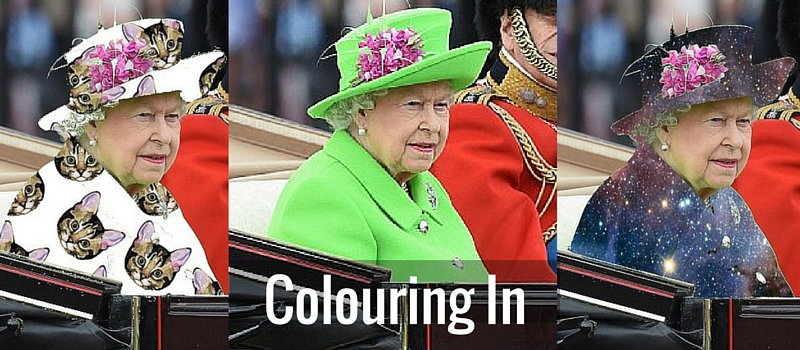 Colouring In – The Queen at 90